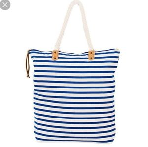 NEW SUMMER & ROSE nautical striped tote bag
